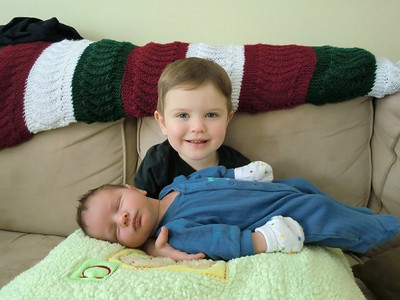 Evan - 2 1/2 yrs & Eli - 2 wks