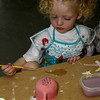 Little artist at work.