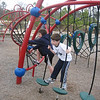 All the cousins got together Saturday and played at the park.