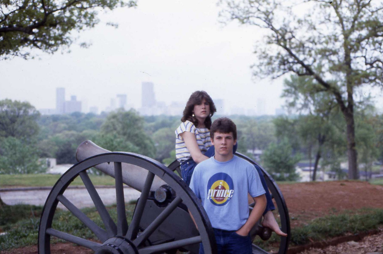 Cannon in Grant Park 1984 Emily and Paul