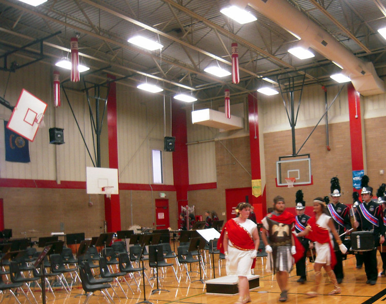 Nampa High band & drill team came and played for us