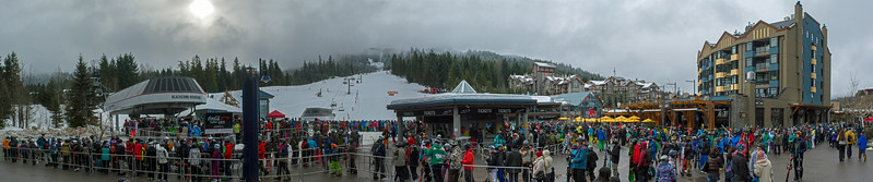 Ski Day with River 01 pan (Village Lineup)
