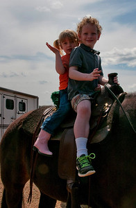Sunday, April 7th...a most anticipated day!  The day we all planned on going to meet Scout, Annie's new Tennessee Walker.  Annie had determined that Scout was ready for two little riders who were very ready to have a ride.