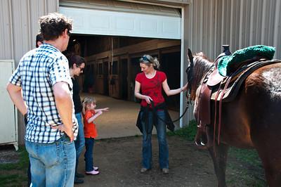 Thalia wants to see inside the barn.