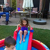 Kamryn being brave, Slade bailing out the pool and Papa relaxing