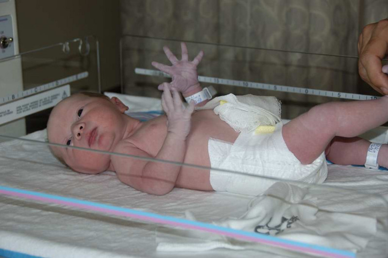 Thalia Simone aprox. 30 min. after delivery.