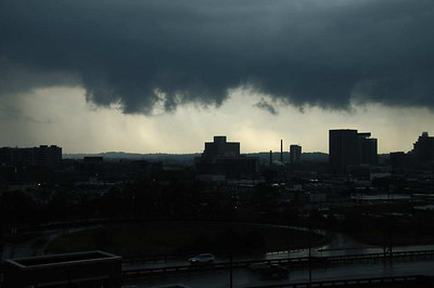 Meanwhile a storm was brewing outside.  A parallel event that preceeded her mother's arrival some 35 years ago.