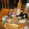 Conner and Sophie undertaking a dangerous ocean crossing with baby and two stuffed horses