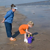 Sandy & Katie looking for sea shells.
