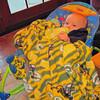 Grandma likes me in my Packers blanket