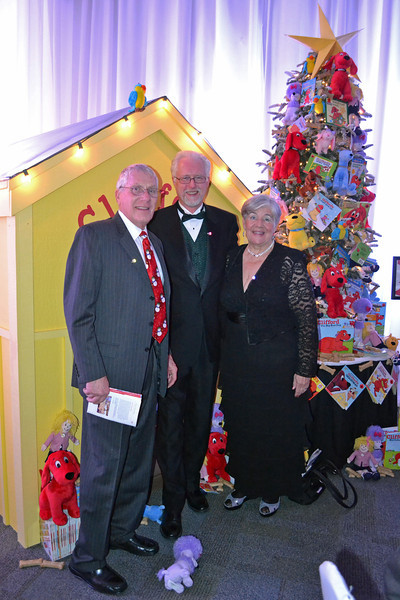 Harv Jubie, Frank and Jan. Harv built the Clifford doghouse. He is very active with the Providence Board and also does mission work in Guatemala.