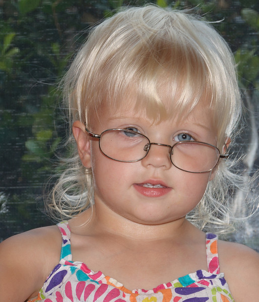 Sydney with Granny's glasses