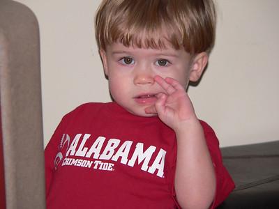 2009 - Granddad keeps Matthew during Alabama Game
