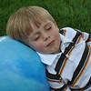 Faker Baker...Little Man pretends to be asleep.  Nice try!