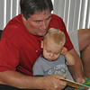 Papa reading Wes his favorite story...