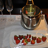 Meanwhile back at our hotel room...I let the Renaissance staff know we were (still) celebrating our 30th wedding anniversary.  They provided St. Julian Champagne and fresh strawberries.  Nice touch.