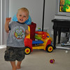 Hilarious.  We put his video in, and up came one of his favorite songs - he started to go thru his dance routine.  So funny...