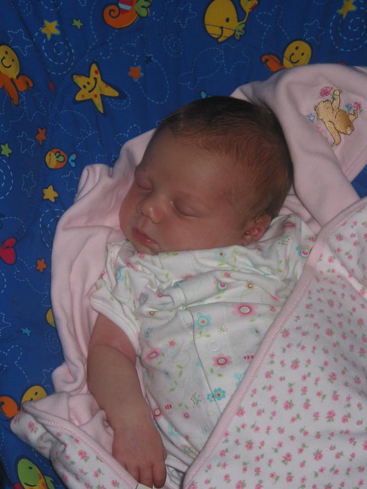 1 November 2006:  Sleeping Zoey.