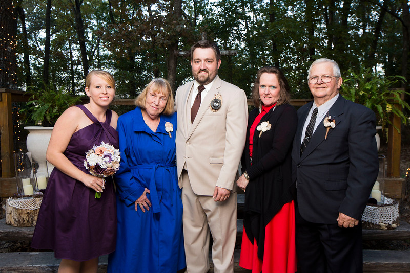 Images from the wedding of Mitchell and Kendra Alcala at Creed's Town on October 26, 2013 in Fordland, Missouri. (David Welker)