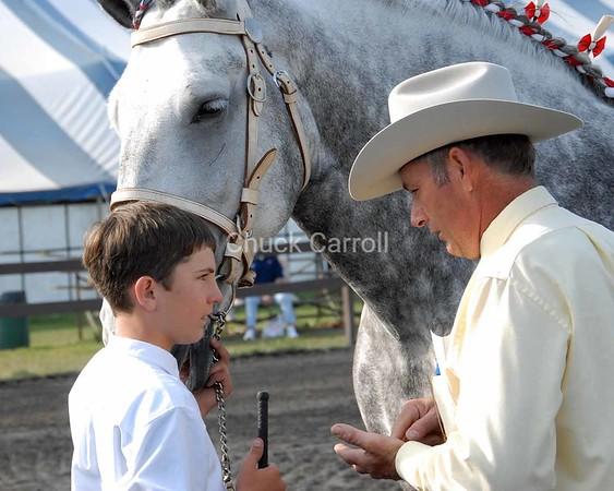 Grange Fair 2008 --  Draft Horses  -  Junior Competition  --   Saturday August 23