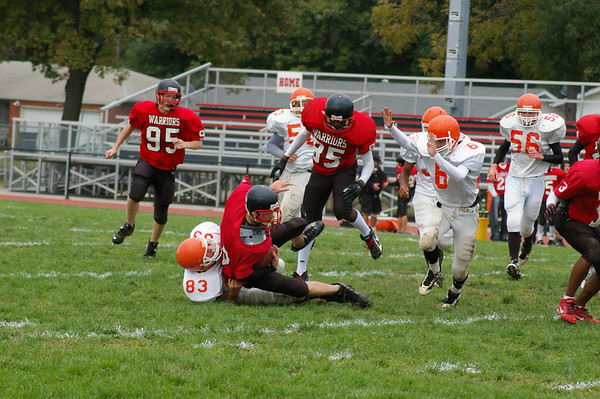 Granite City Warriors Freshman Football vs Edwardsville Tigers