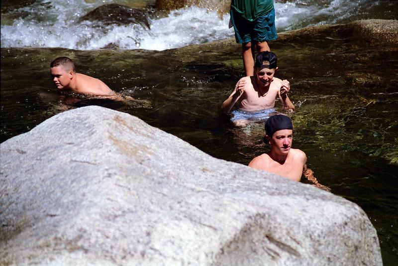 Brian, Mark, & Jason in the Creek