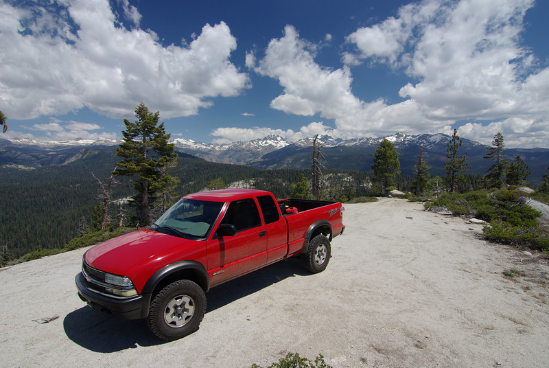 David's ZR2 atop of Cattle Mtn  6-18-2009