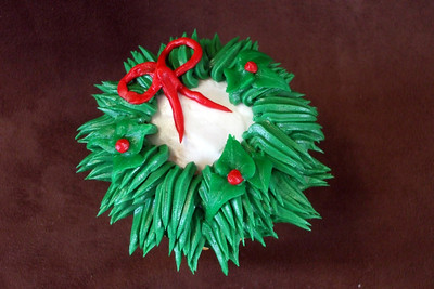 Wreath Cupcake