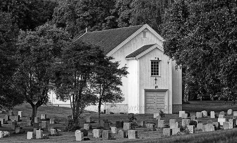 Nes kirke - kirkestua. (The assembly hall at Nes cemetry.)