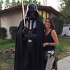 2015 Julie and Darth at set designer preview of star wars