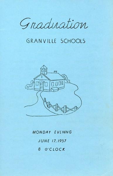 Granville Schools Graduation, June 17, 1957