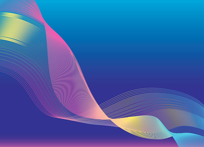 Abstract background design  made of flowing wavy colorful lines. Vector illustration.
