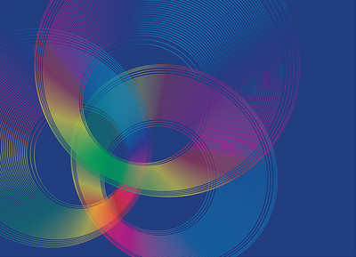 Abstract background design  made of circles. Vector illustration.