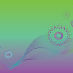 Abstract modern background design  made of flowing wavy  lines and floral shapes. Vector illustration.