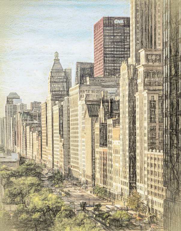 Michigan Avenue Illustrated
