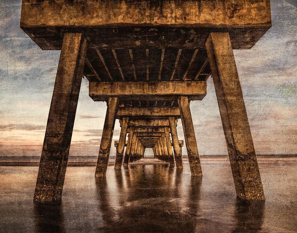 Tybee Island Pier by twilight