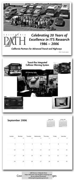 Calendar put together to celebrate 20th anniversary.
