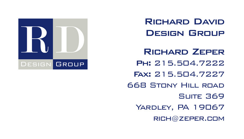 Logo design/business card design for an interior designer.