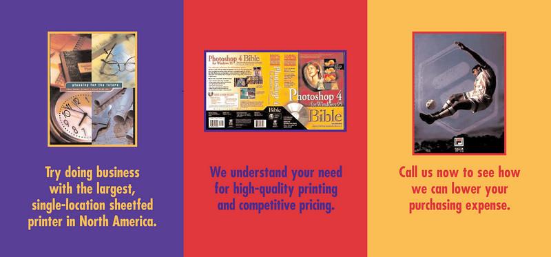 A concept postcard series for a commercial printer.