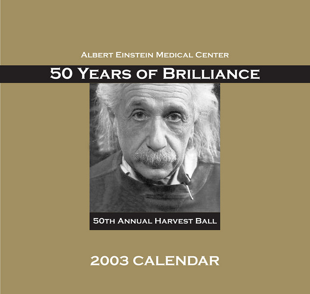 design concept for Einstein Healthcare network book-style calendar