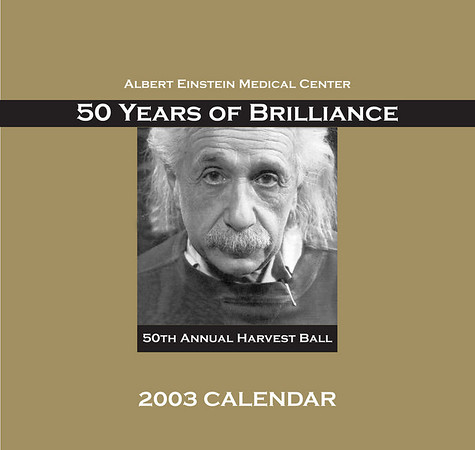 design concept for Einstein Healthcare network book-style calendar