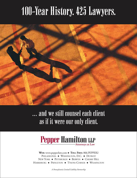Law firm advertisement. Also developed the slogan/tagline