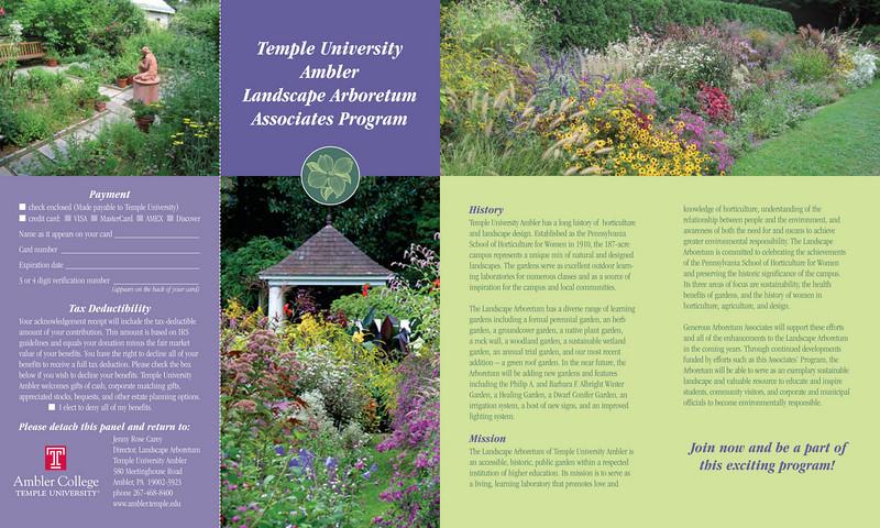 Arboretum brochure