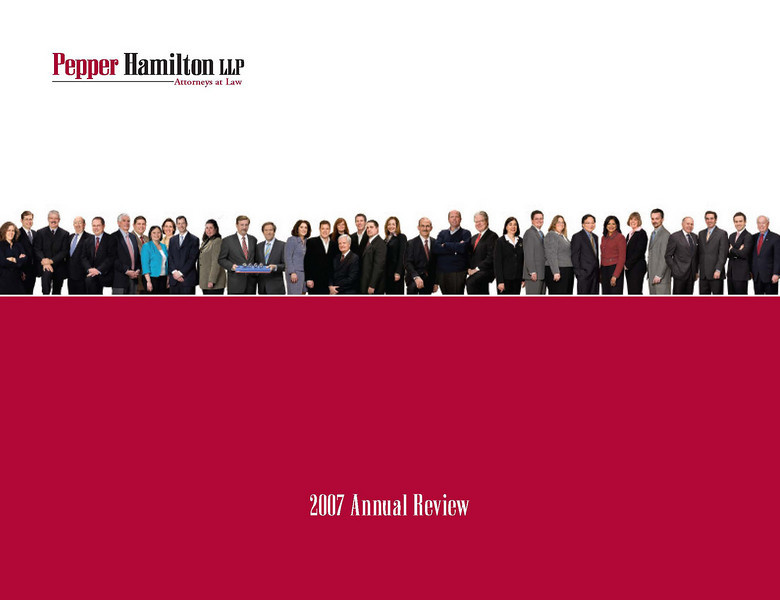 Law firm annual review. We produced this piece for several years for Pepper Hamilton, to whom we have provided design services for more than 15 years.