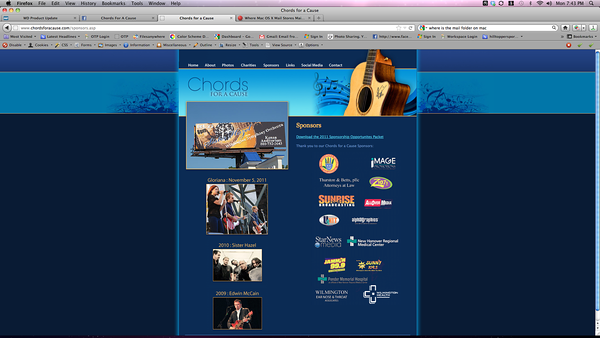 Screen Shot featuring Billboard done by Unit4media for Sister Hazel Event also featuring Unit4media as a sponsor.