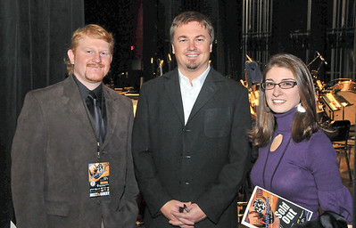 Steve Barber, Edwin McCain and Amanda Barber. This was the night of the concert and I'm not sure the name of the photographer that took this picture but thank you.  This concert was amazing.  Amanda and I were blown away by Edwin.  His music, story telling and professionalism are a benchmark to all musicians.  We loved this show. It was cool also that I did all the artwork for the event.