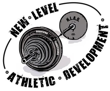 New Level Athletic Development is a start-up training facility that specializes in creating individual routines for specialized sports athletes.  Weights, metal, concrete and exercise were the inspirations. This is their logo.