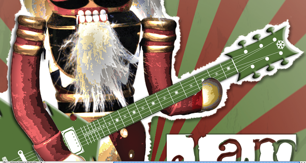 Guitar has snow flake inlay.  Dude that is one cold axe.