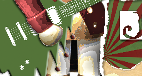 The decorations or Christmas bulbs hanging off the guitar is a bit over the top but I think it is pretty fun.