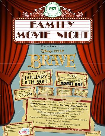 Family Movie Night Flyer 2013 movie night flyer by tess
